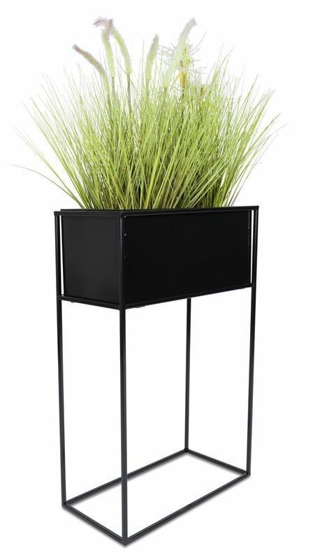 Stojaci kvetináč čierny 70 cm