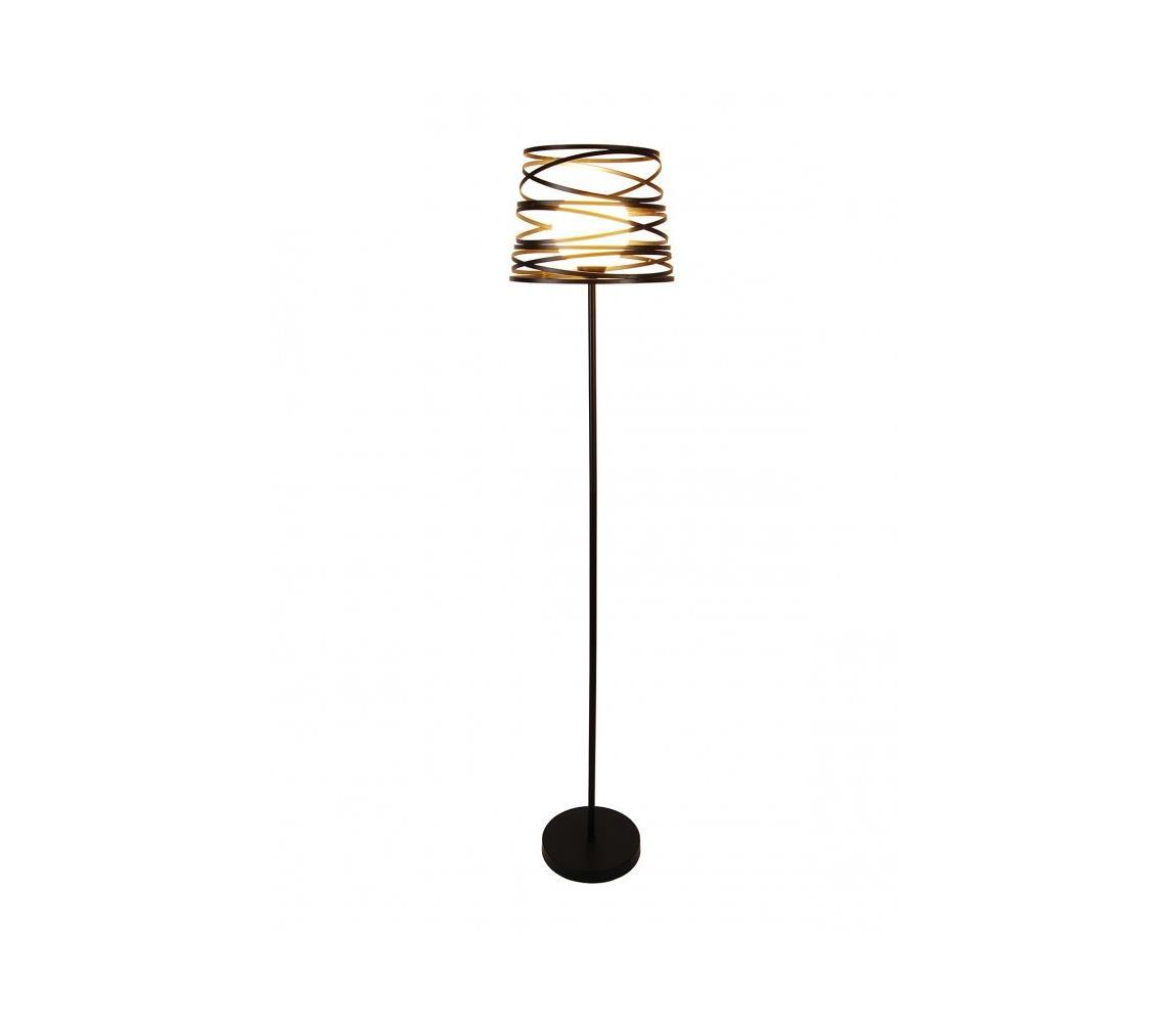 Stojacia lampa AKITA 1xE27/40W/230V čierna