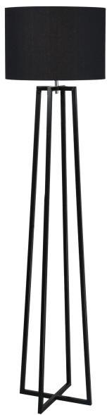 Stojacia lampa, čierna, QENNY TYP 17 LF8574
