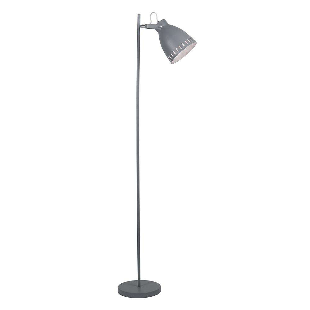 Stojacia lampa, sivá/kov, AIDEN TYP 2