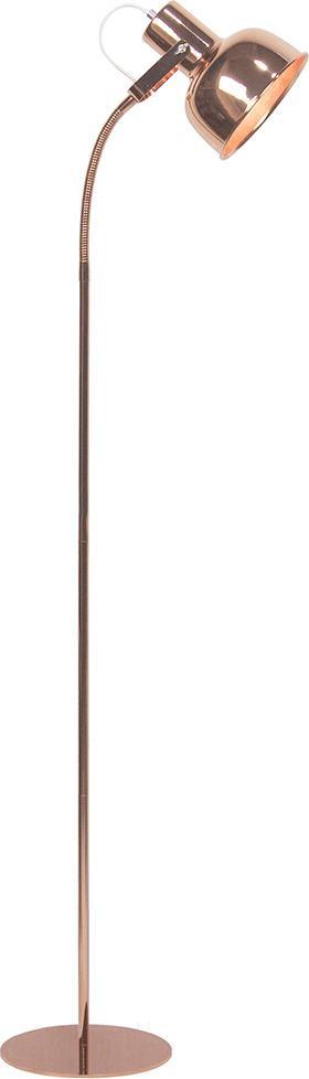 Stojacia lampa v retro štýle, kov, rose gold, AVIER TYP 2