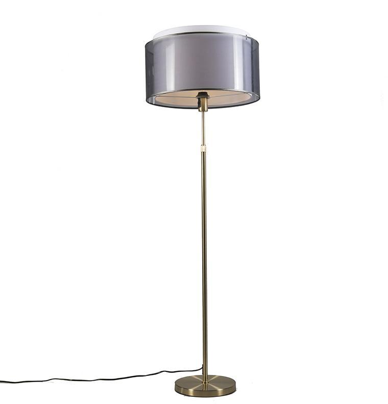 Stojacia lampa zlatá / mosadz s čierno-bielym tienidlom 47 cm - Parte