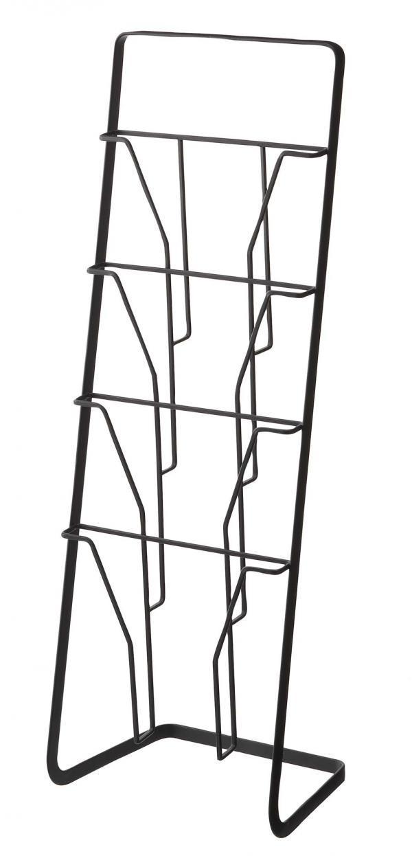 Stojan na noviny Yamazaki Tower, vysoký, čierny