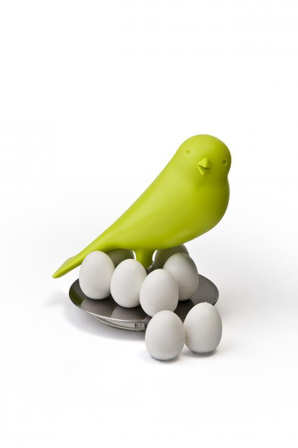 Stojanček s magnetmi Qualy Magnetic Egg Sparrow, zelený