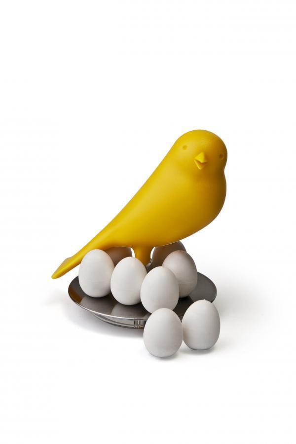 Stojanček s magnetmi Qualy Magnetic Egg Sparrow, žltý