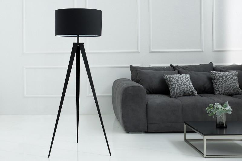 Stojanová lampa Dawson čierna