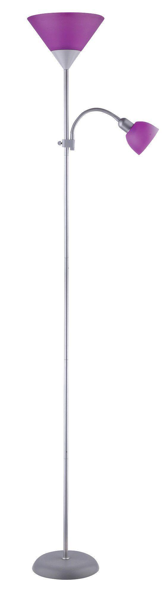 Stojanová lampa Action 4020 (strieborná + fialová)