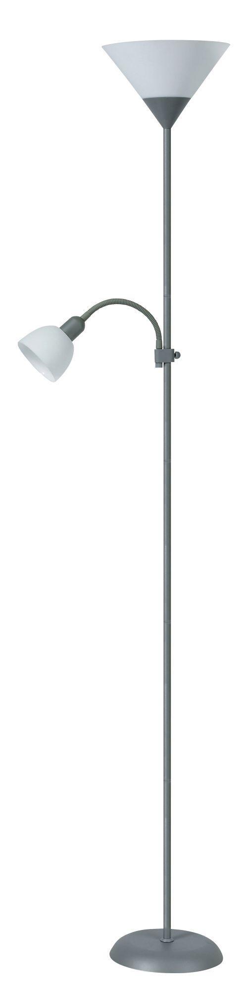 Stojanová lampa Action 4028 (strieborná + biela)
