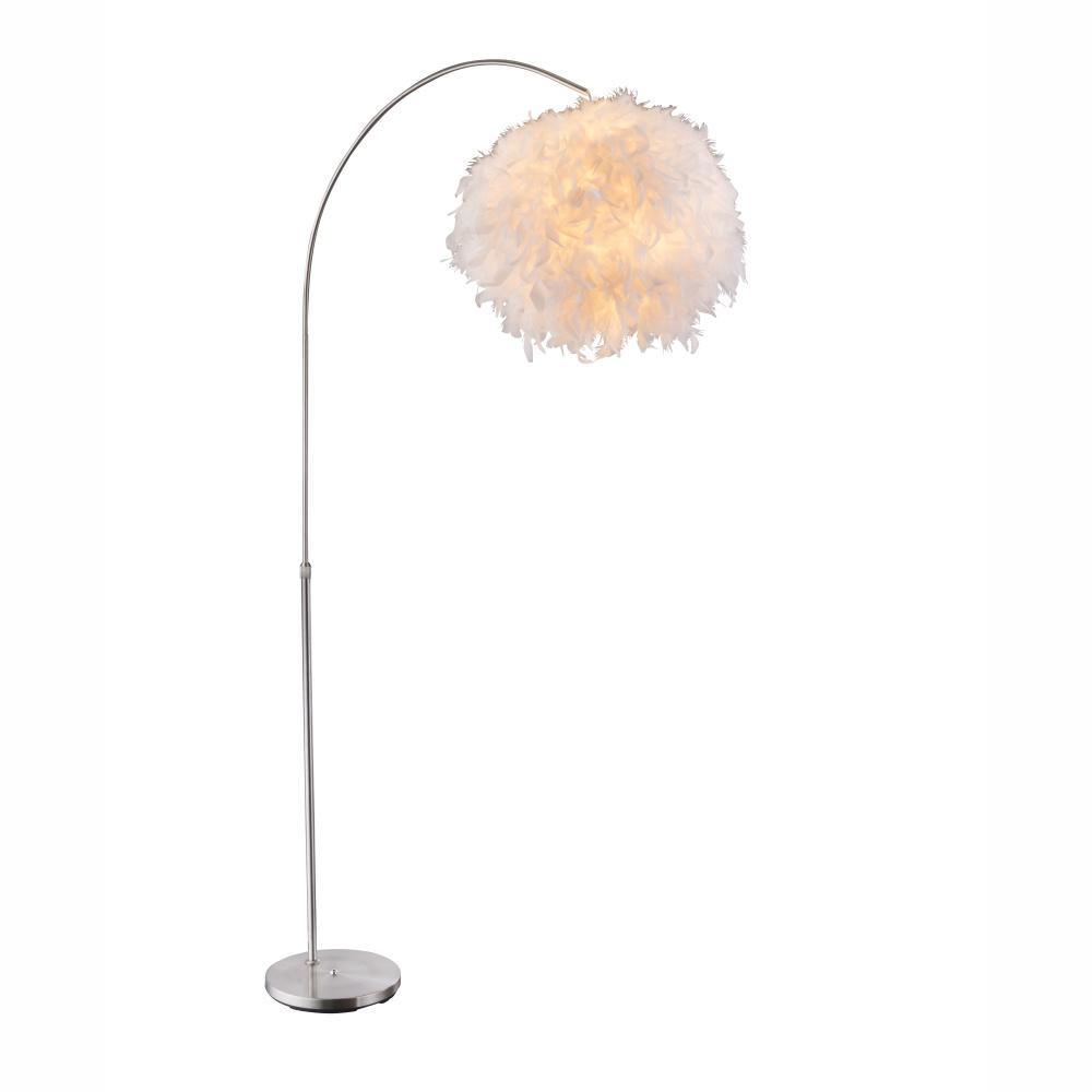 Stojanové svietidlo Katunga 15057S (moderné/dizajnové) (nikel + biela)