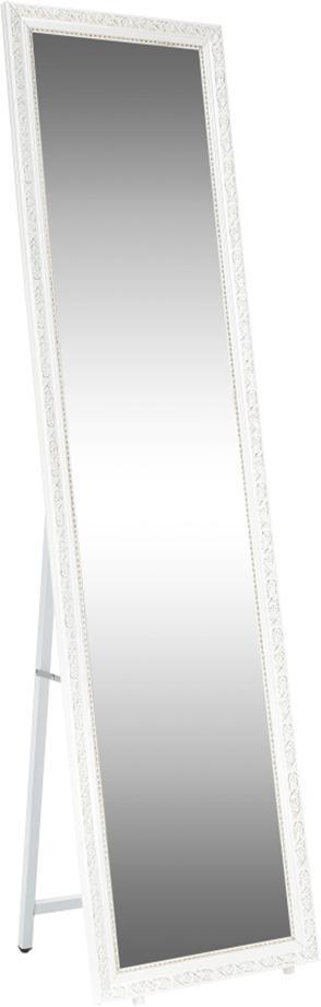 Stojanové zrkadlo, biela/bielo-zlatý ornament, LAVAL