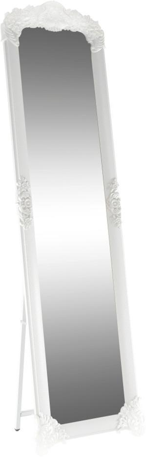 Stojanové zrkadlo, biela/strieborná, CASIUS