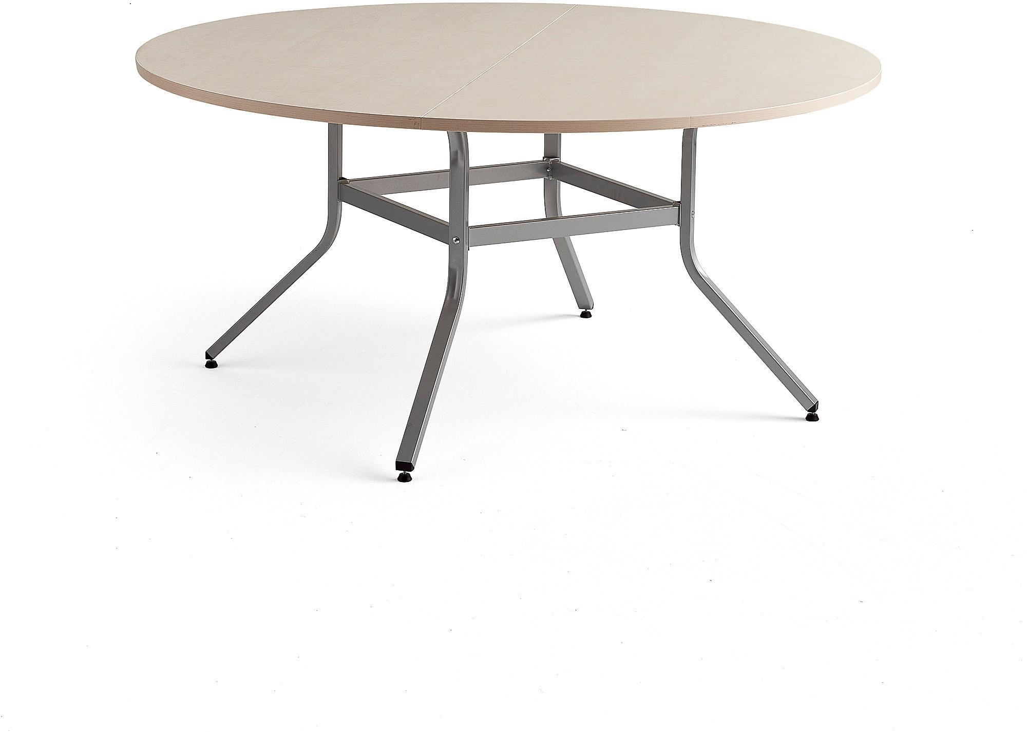 Stôl Various, Ø1600 mm, výška 740 mm, strieborná, breza
