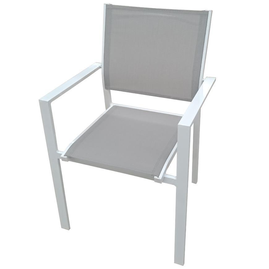 Stolička arizona aluminium šedobiela