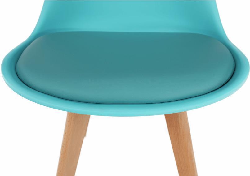 Stolička, mentol/buk, BALI 2 NEW