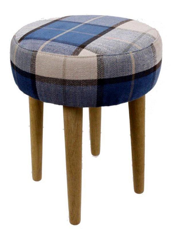 Stolička s dubovými nohami Marine, 45 cm