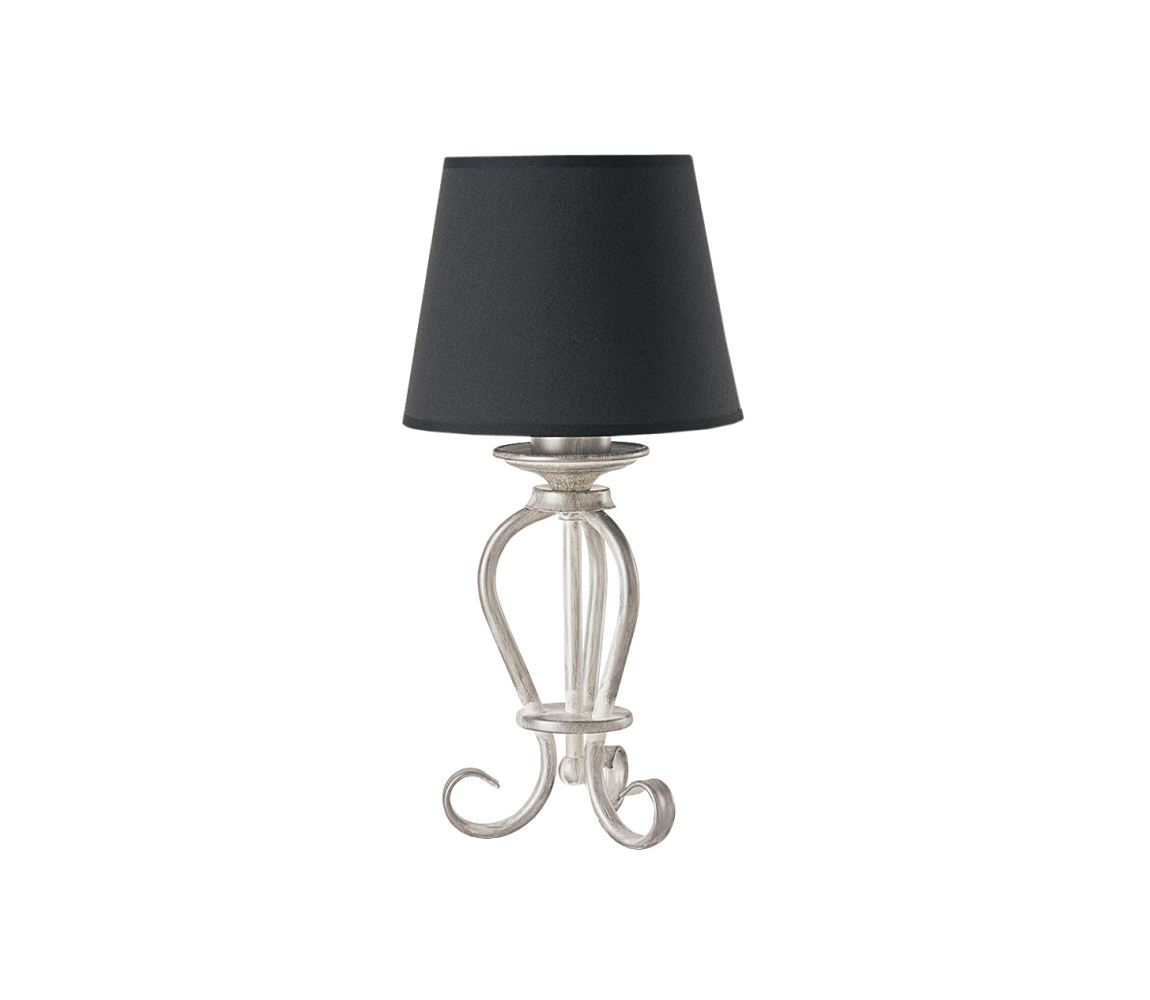 Stolná lampa ARKADA 1xE27/60W čierna/strieborná patina