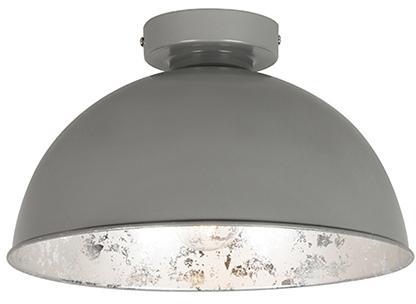 Stropná lampa sivá so striebornou 30 cm - Magna Basic