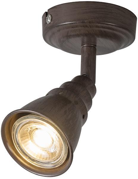 Stropné a nástenné bodové svetlo hrdzavohnedé otočné a sklopné - Coney 1