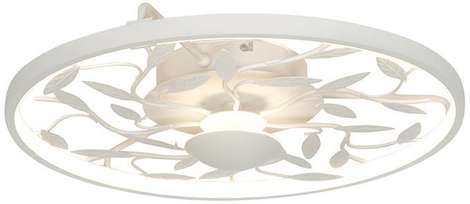 Stropné svietidlo Art Deco biele 3-stupňové stmievateľné - Bota