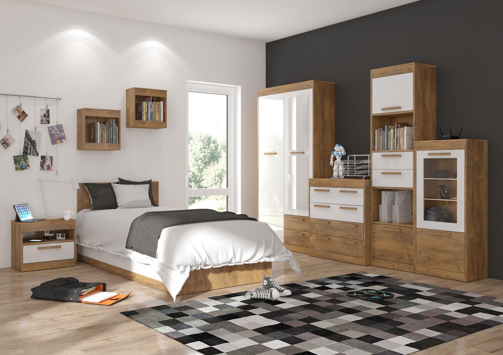 Študentská izba Maximus WIP 8 Farba: dub burgund/biela lesk