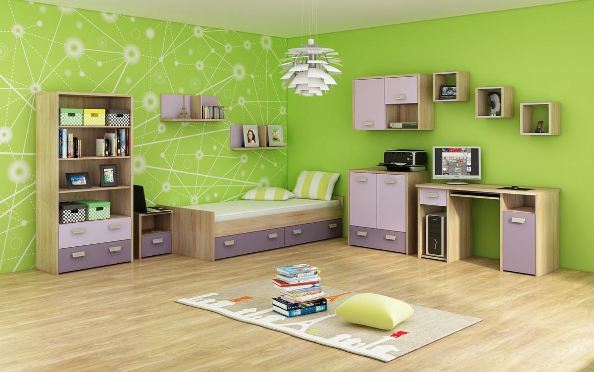 Študentská izba - WIP - Kitty 3 Sonoma svetlá + fialová. Doprava ZDARMA. Sme autorizovaný predajca WIP.