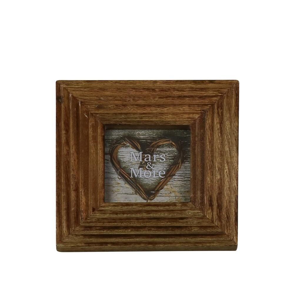 Štvorcový fotorámček z mangového dreva - 19 * 2 * 19cm
