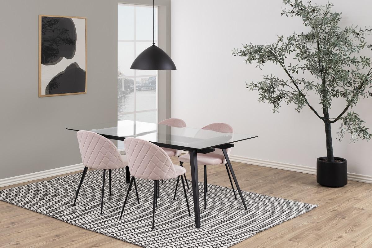 Štýlová jedálenská stolička Alexandre, svetloružová
