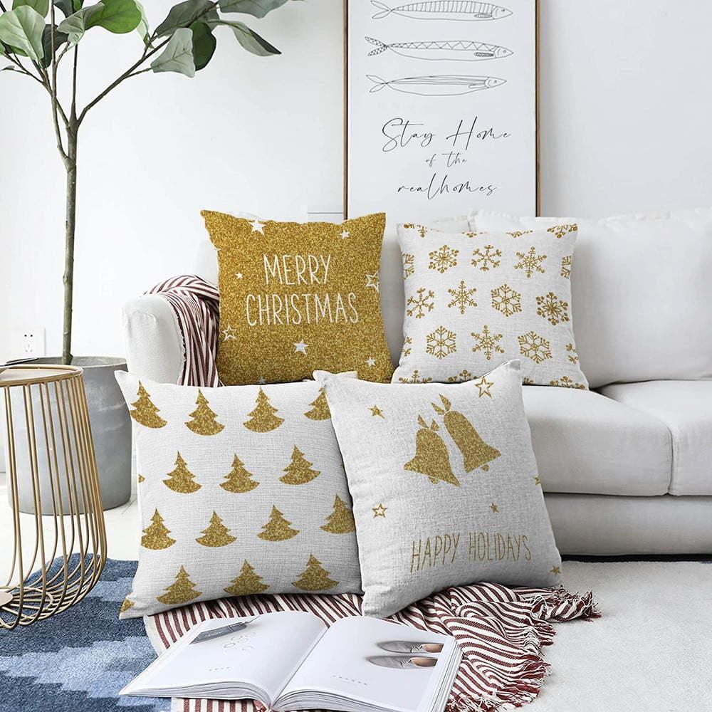 Súprava 4 obliečok na vankúše Minimalist Cushion Covers Christmas Vibes, 55 x 55 cm
