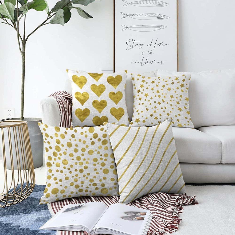 Súprava 4 obliečok na vankúše Minimalist Cushion Covers Elegance, 55 x 55 cm