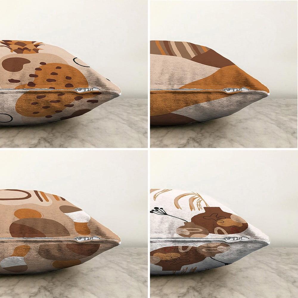 Súprava 4 obliečok na vankúše Minimalist Cushion Covers Pampas, 55 x 55 cm