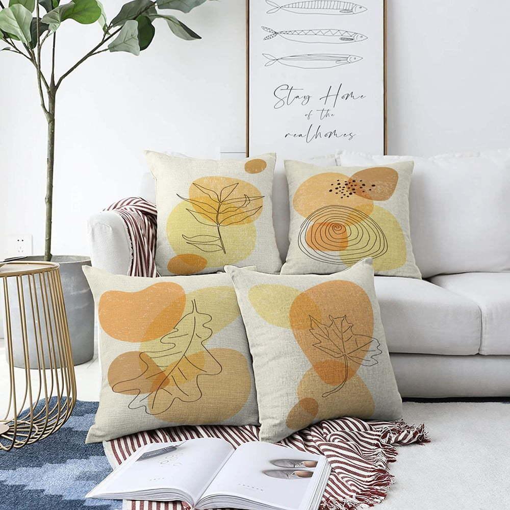 Súprava 4 obliečok na vankúše Minimalist Cushion Covers Sunset Colours, 55 x 55 cm