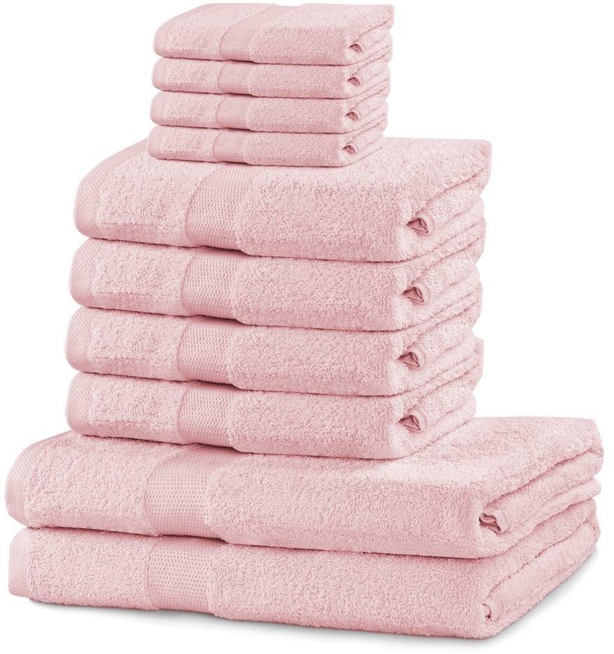 Súprava uterákov DecoKing Kunis svetloružová