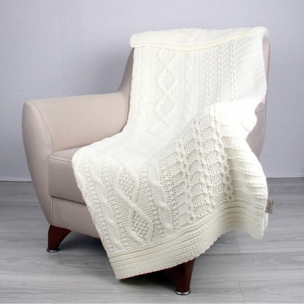 Svetlobéžová deka Totu, 170 × 130 cm