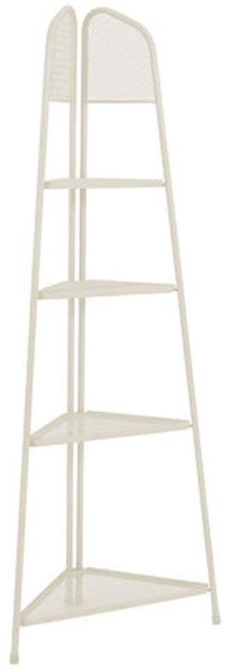 Svetlobéžová kovová rohová polica na balkón ADDU MWH, výška 180 cm