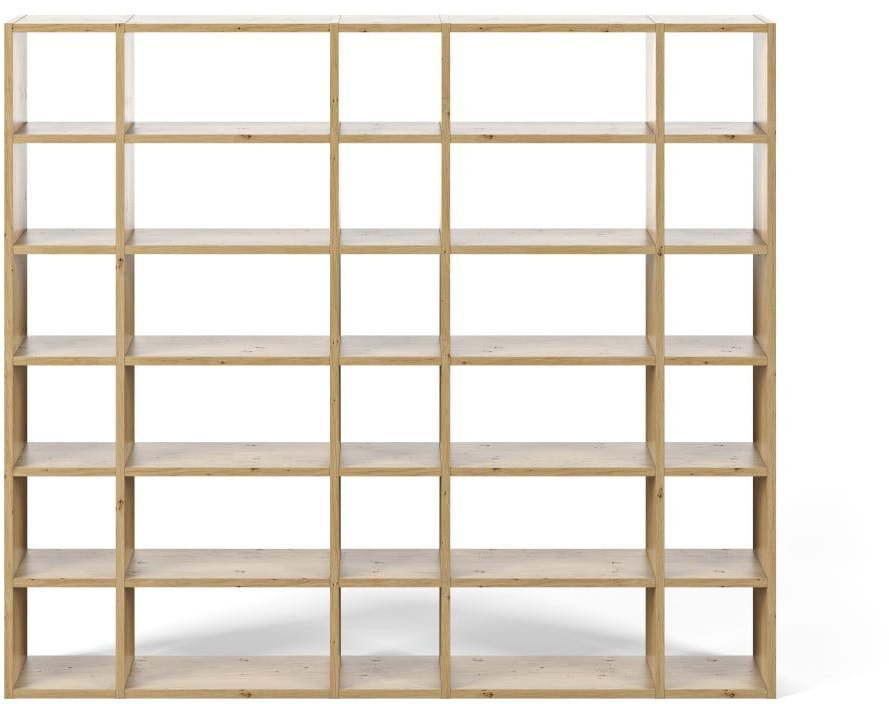 Svetlohnedá knižnica TemaHome Pombal, šírka 255 cm