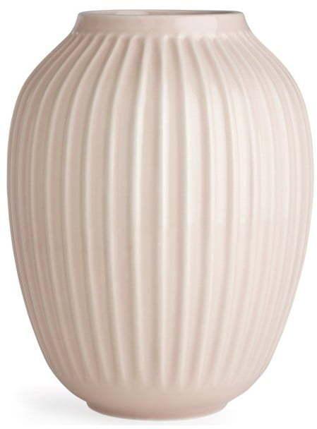 Svetloružová kameninová váza Kähler Design Hammershoi, výška 25 cm