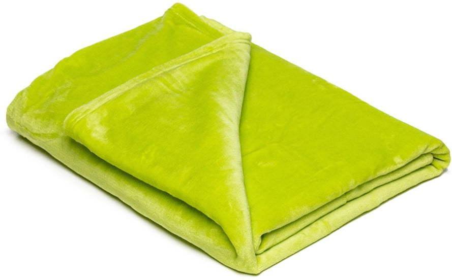 Svetlozelená mikroplyšová deka My House, 150 × 200 cm