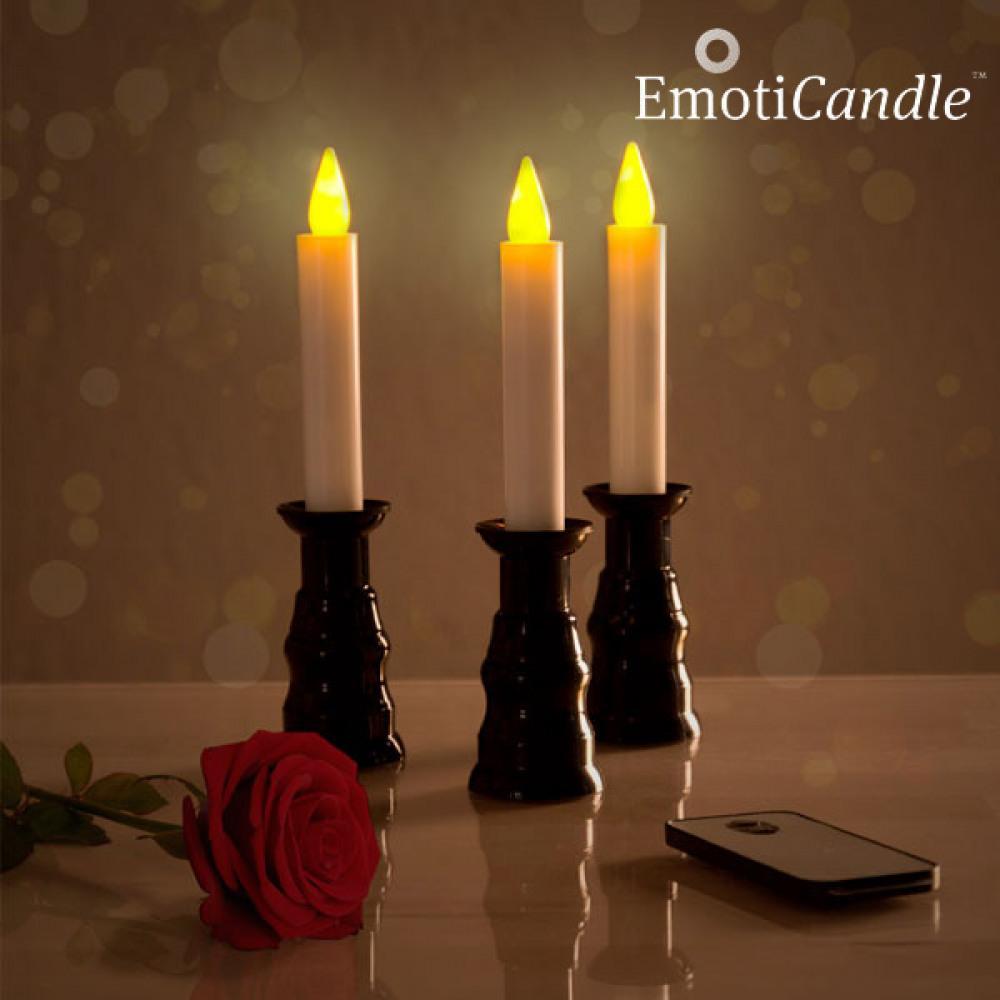 Sviečky EmotiCandle Romantic Ambiance LED 3ks, IN5229