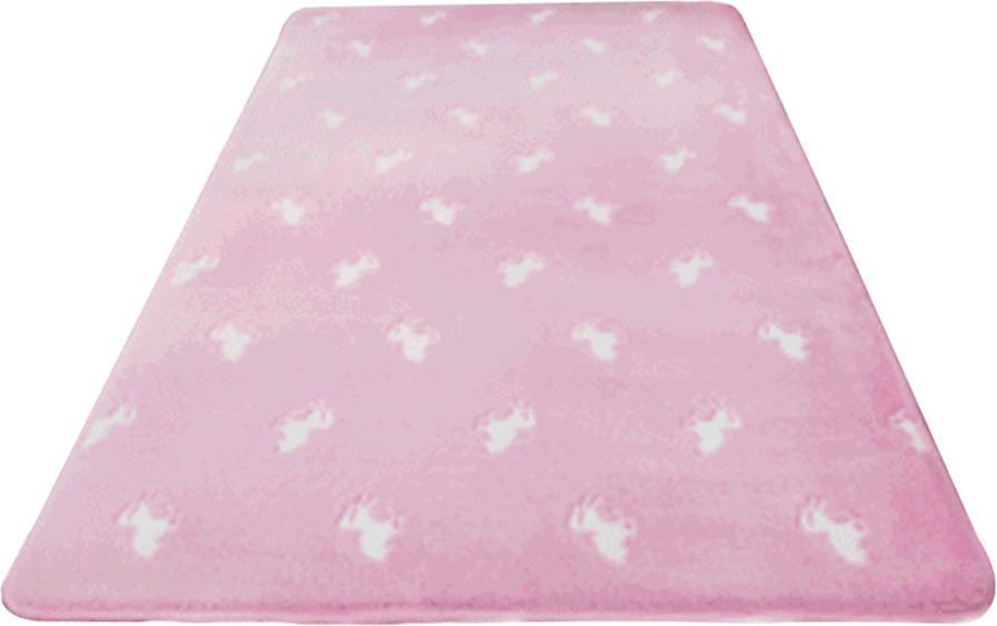 Svietiaci koberec, ružová/vzor, 80x150cm, GLOVIS TYP 2