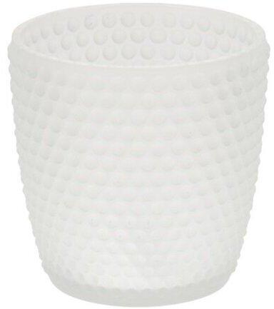 Svietnik na čajovú sviečku Durango biela, 7,5 x 7,5 cm