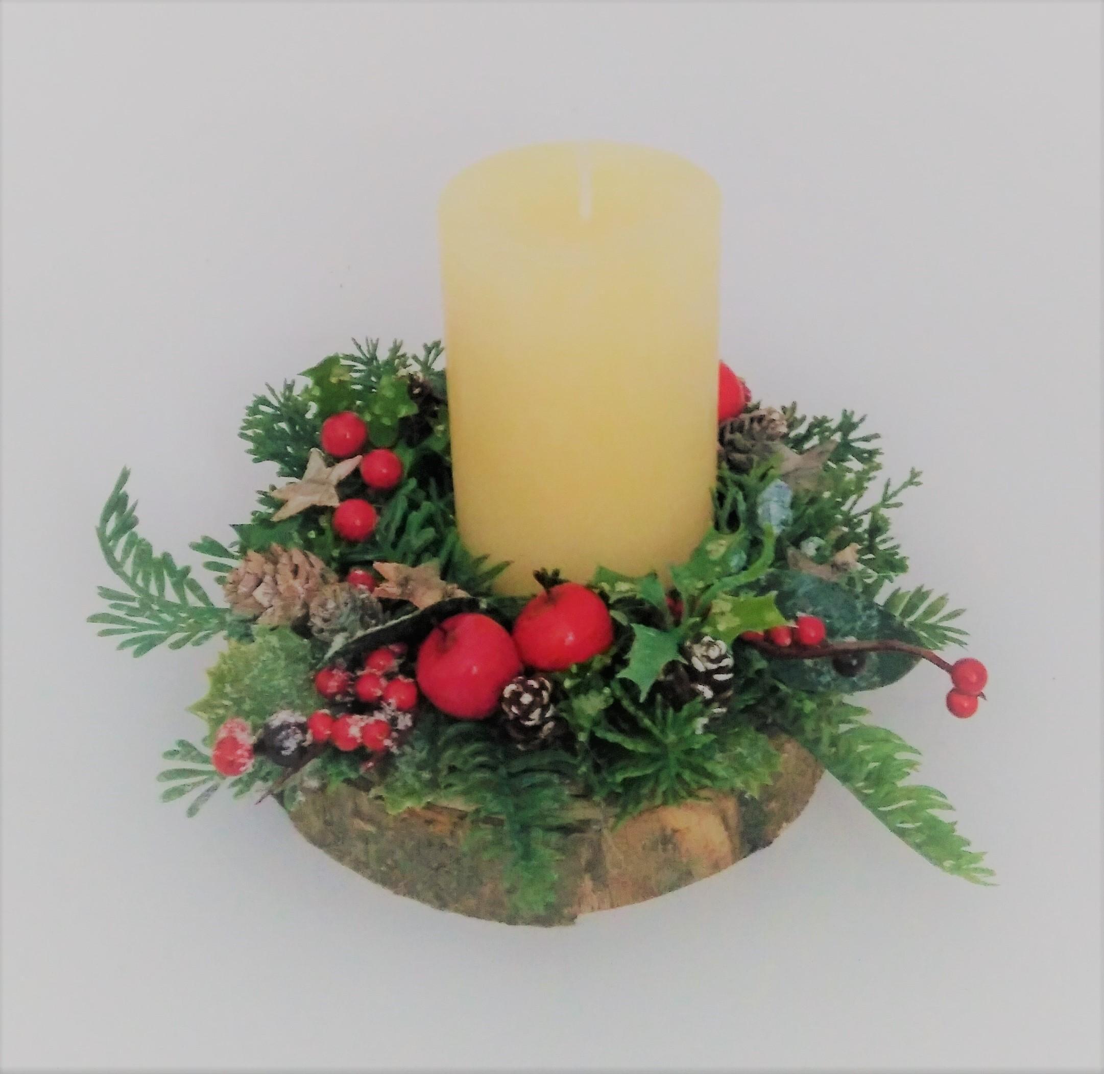 svietnik vianočný 16 x 14 cm