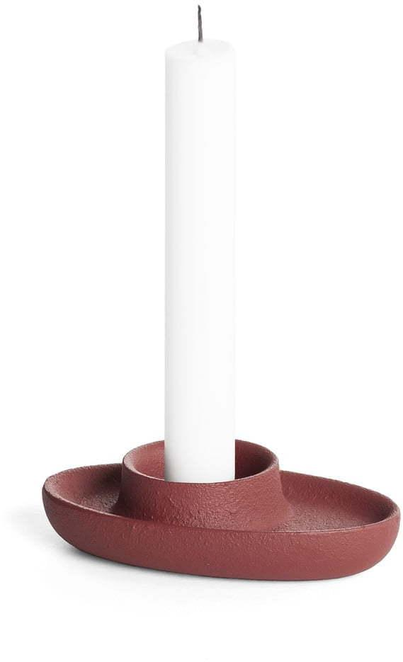 Svietnik vo vínovočervenej farbe EMKO Aye Aye One Candle