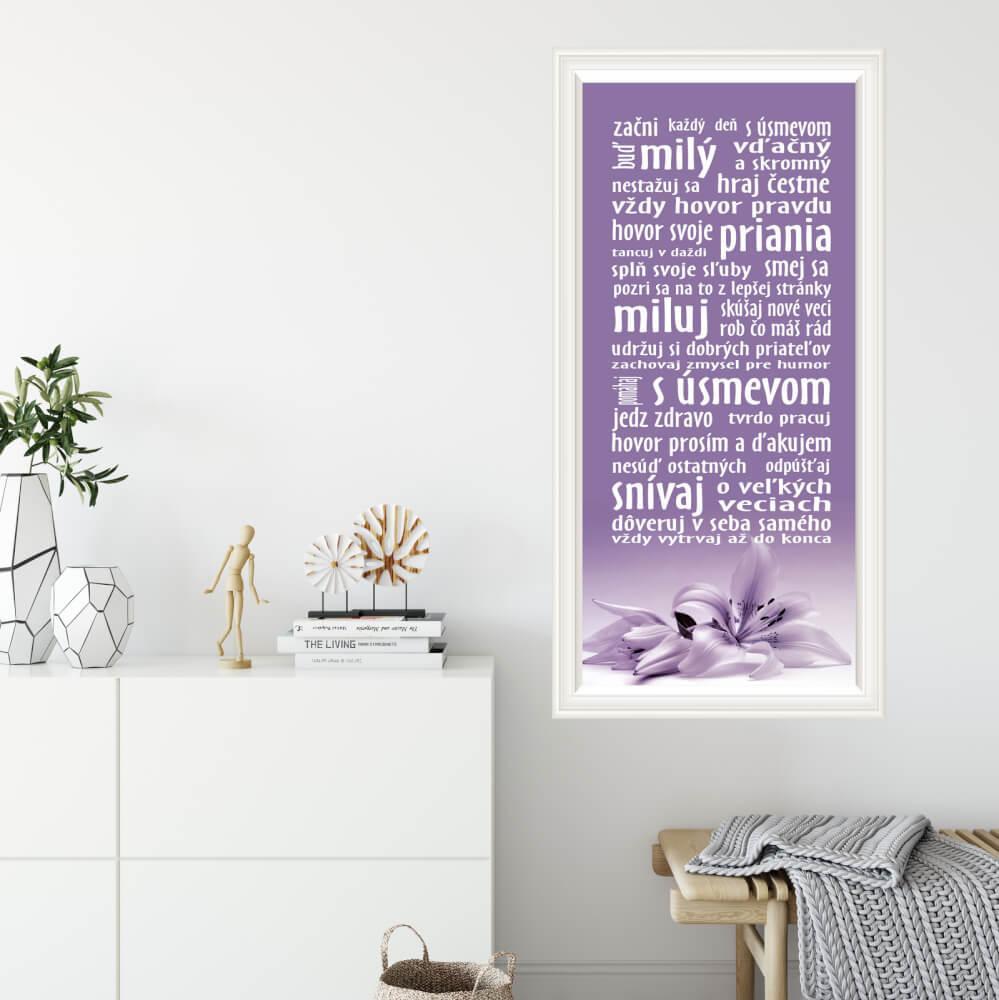 Tapety na stenu - Pre tvoj deň, vo fialovom