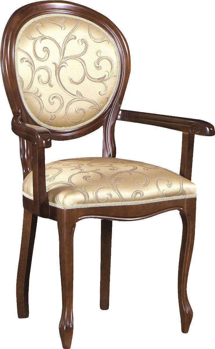 TARANKO Krzeslo O rustikálne jedálenské kreslo nový orech / hnedý vzor (A4 0904)