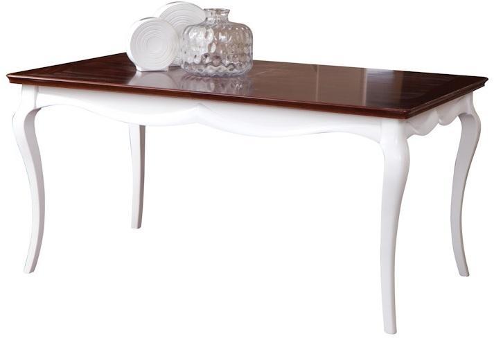 TARANKO Milano MI-S1 rustikálny jedálenský stôl biela / orech Milano