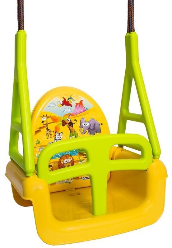 TEGA - Detská hojdačka 3v1 safari Swing yellow