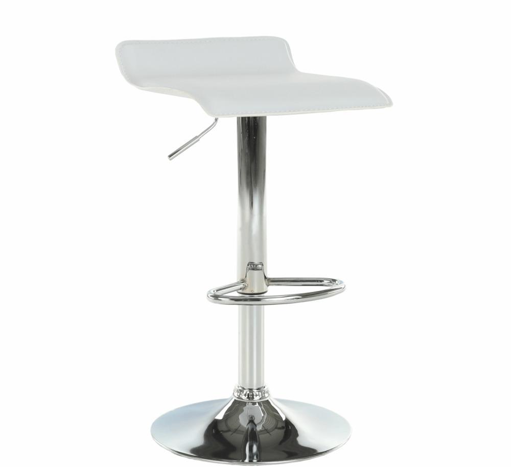 TEMPO KONDELA Barová stolička, ekokoža biela/chróm, LARIA NEW