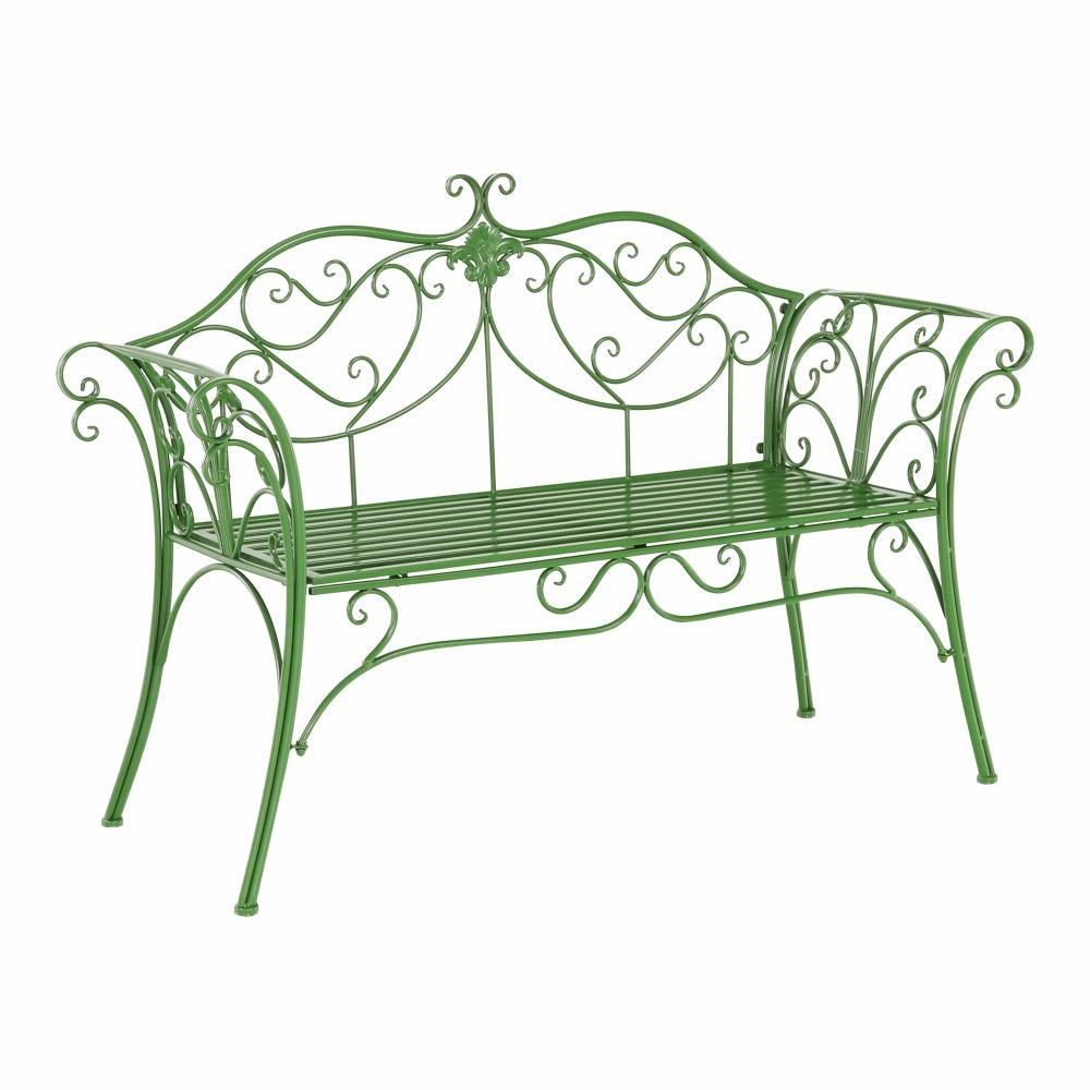 KONDELA Etelia záhradná lavička zelená