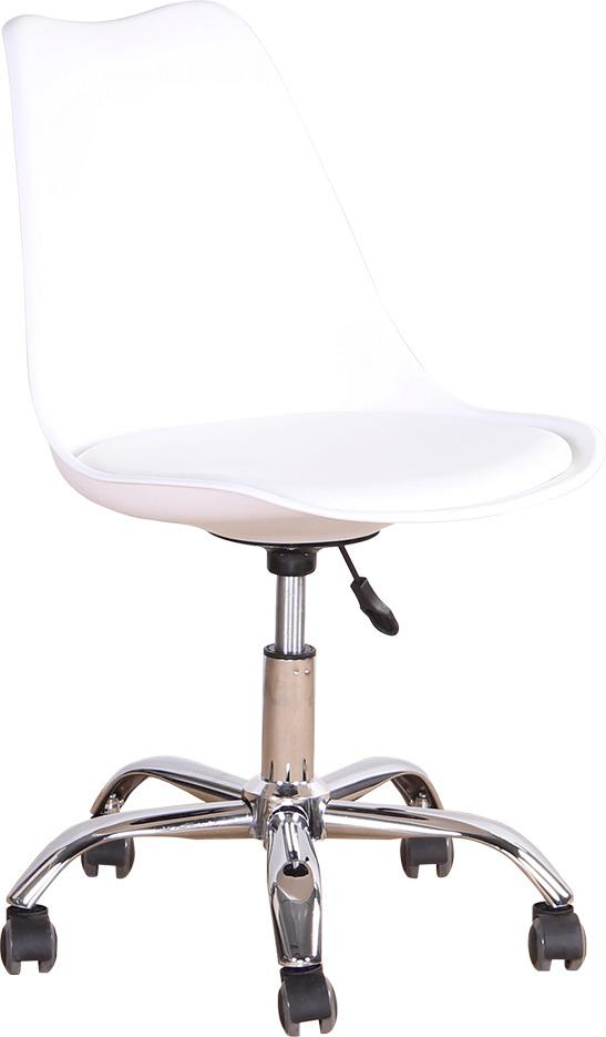 TEMPO KONDELA Kancelárska stolička, biela, DARISA NEW