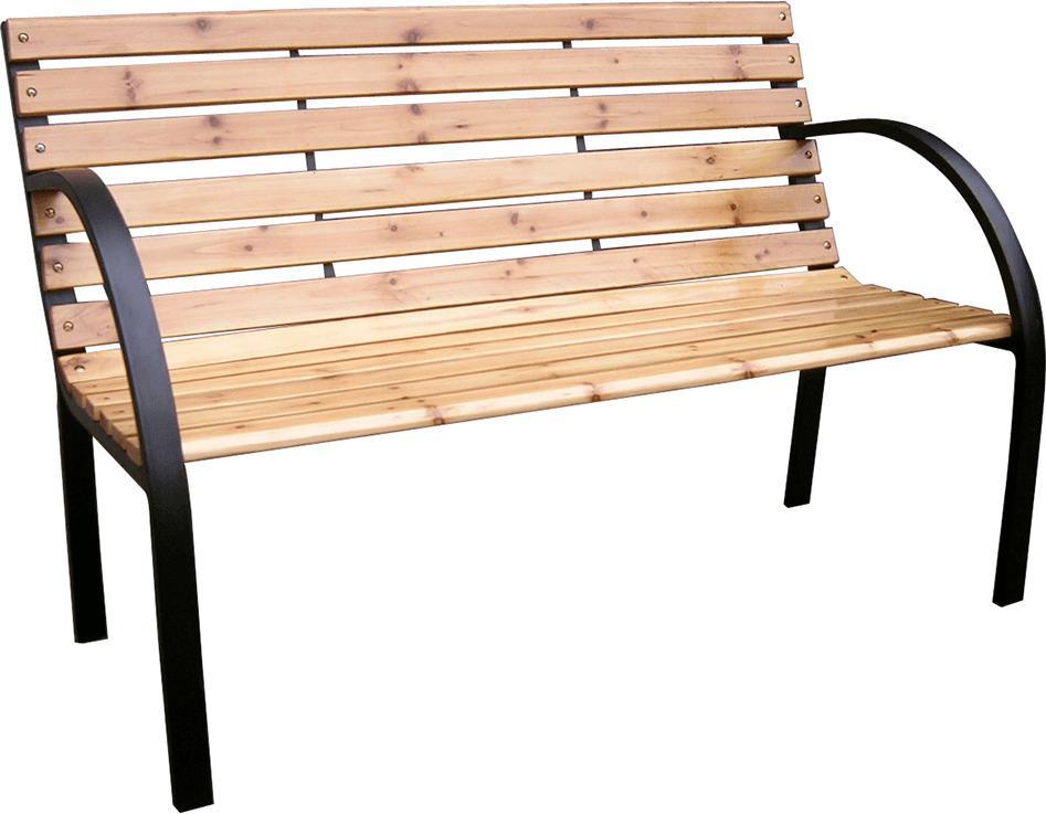 Tempo Kondela LACEA Záhradná lavička čierna 80x122x60 cm